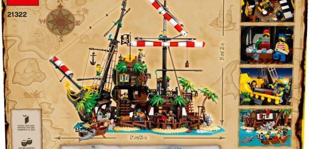 You can now become a pirate with a brand-new LEGO Ideas set, Pirates of Barracuda Bay, inspired by the 1989 Black Seas Barracuda pirate ship model. Adventurers can now explore […]