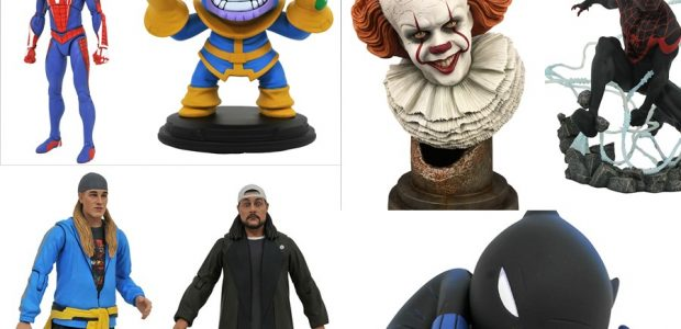 Snootch to the Bootch! Jay and Silent Bob are re-booting comic shops this week with two new action figures from Diamond Select Toys! Spider-Man also gets a new action figure, […]