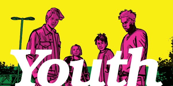 The second issue of Youth, direct from Comixology, continues where issue 1 left off: This time, we start off with a stark yellow and magenta cover image, youth gathered in […]