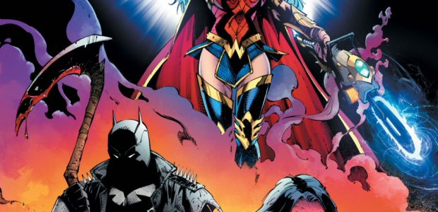 """Dark Nights: Death Metal #1 """"It All Matters"""" Get ready for the earth-shattering encore! The legendary team behind Dark Nights: Metal and Batman: Last Knight on Earth take center stage […]"""
