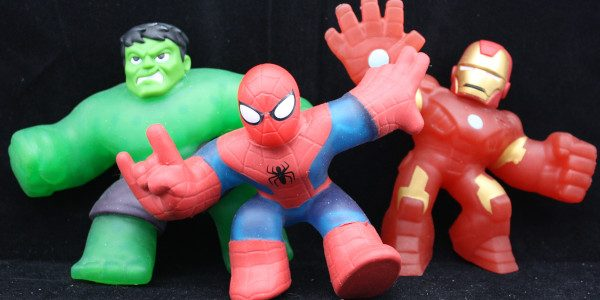 The Marvel heroes stretch in to join the Heroes of Goo Jit Zu