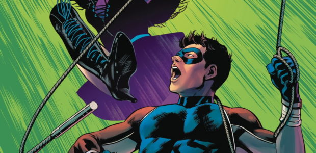 """The march to """"The Joker War"""" continues with this preview of Nightwing #72, a tie-in issue to the event that will have deadly impact across the entire family of Bat-Titles! […]"""