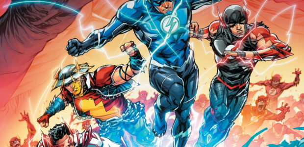 It's the drag race from hell! Taking place after the events of Dark Nights: Death Metal #3, the Darkest Knight is after Wally West and his Dr. Manhattan powers. Thankfully, […]