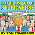 IDW Publishing releases a collaboration graphic novel defining the life of President Trump related to real-life in Life in the Stupidverse.
