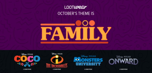 Suit up for your next big adventure in pop culture apparel as we celebrate Pixar Animation Studios with October's exciting Family-themed line of Loot Wear! The October Loot Wear line […]