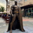 Seven-And-A-Half-Foot Tall Bronze Sculpture of the Dark Knight is Based on Jim Lee's Acclaimed Batman: Hush Character Design Batman Fans Can View the Statue at AMC Walkway in Downtown Burbank